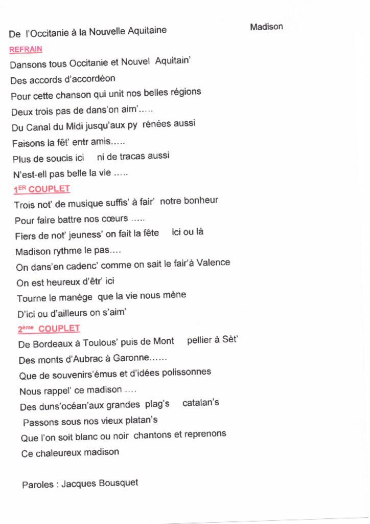 thumbnail of DE L'OCCITANIE A LA NOUVELLE AQUITAINE-paroles
